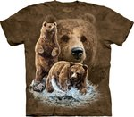 Vind 10 bruine beren - The Mountain T-shirt