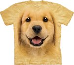 Golden Retriever Puppy - The Mountain T-shirt