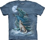 Dragon Wolf Moon - The Mountain T-shirt_