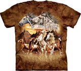 Vind 15 paarden - The Mountain T-shirt_