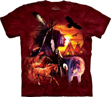 Indian Collage - The Mountain T-shirt