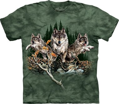 Vind 12 wolven - The Mountain T-shirt