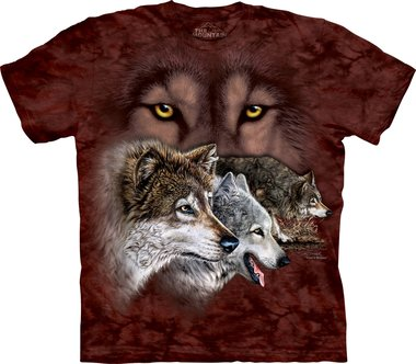 Vind 9 wolven - The Mountain T-shirt Kids