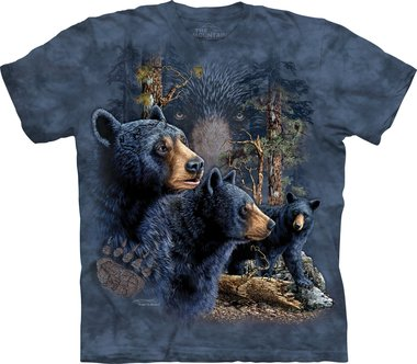 Vind 13 zwarte beren - The Mountain T-shirt Kids