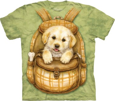 Puppy in Rugzak - The Mountain T-shirt Kids