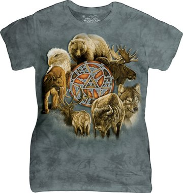 Dierencirkel - The Mountain T-shirt Dames
