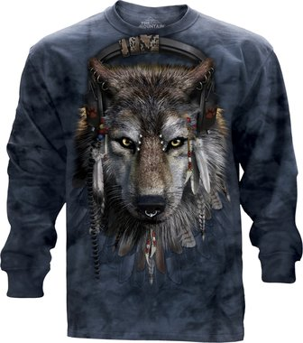 Wolf DJ - The Mountain T-shirt Lange Mouw