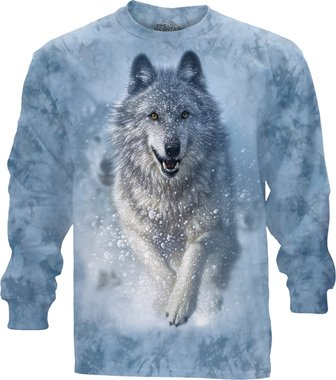 Wolf in Sneeuw - The Mountain T-shirt Lange Mouw