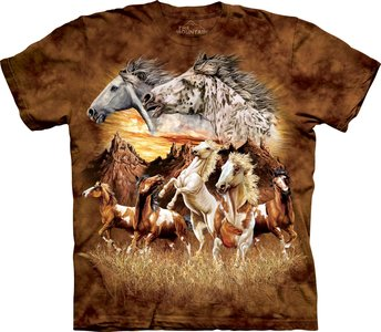 Vind 15 paarden - The Mountain T-shirt